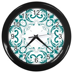 Vintage Floral Style Frame Wall Clocks (black) by Alisyart