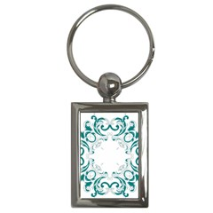 Vintage Floral Style Frame Key Chains (rectangle)  by Alisyart