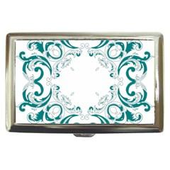 Vintage Floral Style Frame Cigarette Money Cases by Alisyart
