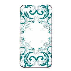 Vintage Floral Style Frame Apple Iphone 4/4s Seamless Case (black) by Alisyart