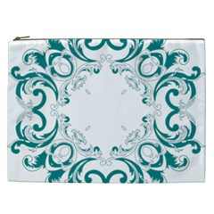 Vintage Floral Style Frame Cosmetic Bag (xxl)  by Alisyart