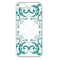 Vintage Floral Style Frame Apple Seamless Iphone 5 Case (clear) by Alisyart