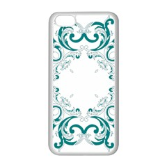 Vintage Floral Style Frame Apple Iphone 5c Seamless Case (white) by Alisyart