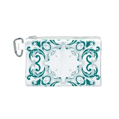 Vintage Floral Style Frame Canvas Cosmetic Bag (s) by Alisyart