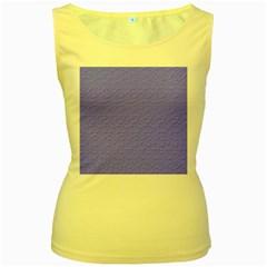 Ripples Blue Space Women s Yellow Tank Top by Alisyart