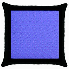 Ripples Blue Space Throw Pillow Case (black) by Alisyart