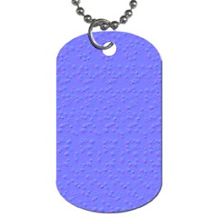 Ripples Blue Space Dog Tag (two Sides) by Alisyart