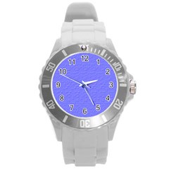 Ripples Blue Space Round Plastic Sport Watch (l) by Alisyart