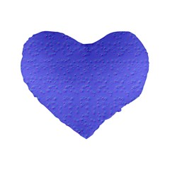 Ripples Blue Space Standard 16  Premium Heart Shape Cushions by Alisyart