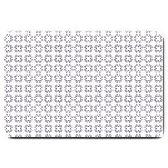 Violence Head On King Purple White Flower Large Doormat  by Alisyart