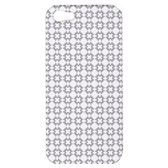 Violence Head On King Purple White Flower Apple Iphone 5 Hardshell Case by Alisyart