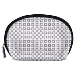 Violence Head On King Purple White Flower Accessory Pouches (large)  by Alisyart