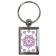 Frame Flower Star Purple Key Chains (rectangle)  by Alisyart