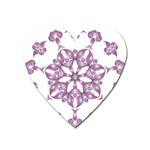 Frame Flower Star Purple Heart Magnet Front