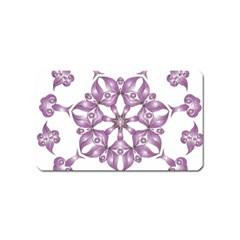 Frame Flower Star Purple Magnet (name Card) by Alisyart