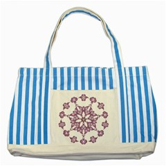 Frame Flower Star Purple Striped Blue Tote Bag by Alisyart