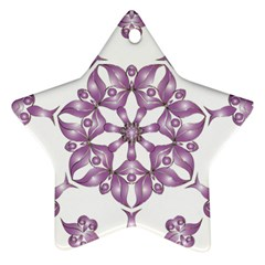Frame Flower Star Purple Star Ornament (two Sides) by Alisyart