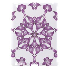 Frame Flower Star Purple Apple Ipad 3/4 Hardshell Case (compatible With Smart Cover) by Alisyart