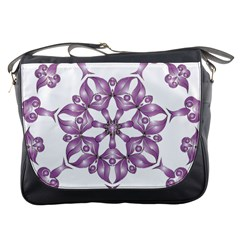 Frame Flower Star Purple Messenger Bags by Alisyart