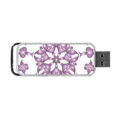 Frame Flower Star Purple Portable Usb Flash (one Side) by Alisyart