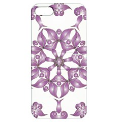 Frame Flower Star Purple Apple Iphone 5 Hardshell Case With Stand by Alisyart