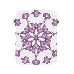 Frame Flower Star Purple Apple Ipad 2/3/4 Protective Soft Cases by Alisyart