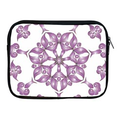 Frame Flower Star Purple Apple Ipad 2/3/4 Zipper Cases by Alisyart