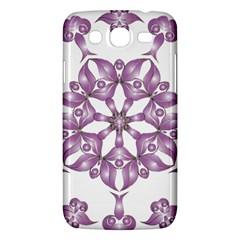 Frame Flower Star Purple Samsung Galaxy Mega 5 8 I9152 Hardshell Case  by Alisyart