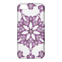 Frame Flower Star Purple Apple Iphone 5c Hardshell Case by Alisyart