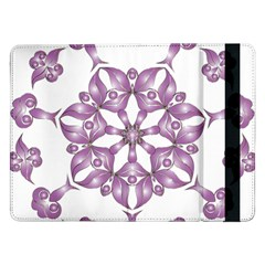 Frame Flower Star Purple Samsung Galaxy Tab Pro 12 2  Flip Case by Alisyart