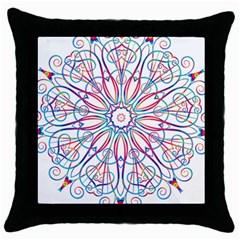 Frame Star Rainbow Love Heart Gold Purple Blue Throw Pillow Case (black) by Alisyart