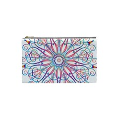 Frame Star Rainbow Love Heart Gold Purple Blue Cosmetic Bag (small)  by Alisyart