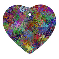 Glass Rainbow Color Ornament (heart) by Alisyart