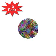 Glass Rainbow Color 1  Mini Magnet (10 Pack)  by Alisyart