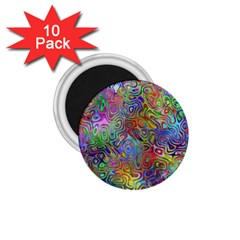 Glass Rainbow Color 1 75  Magnets (10 Pack)  by Alisyart