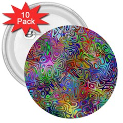 Glass Rainbow Color 3  Buttons (10 Pack)  by Alisyart