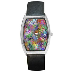 Glass Rainbow Color Barrel Style Metal Watch by Alisyart