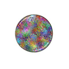 Glass Rainbow Color Hat Clip Ball Marker (4 Pack) by Alisyart