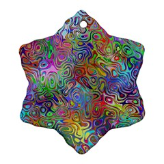 Glass Rainbow Color Snowflake Ornament (two Sides) by Alisyart
