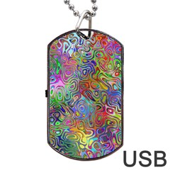 Glass Rainbow Color Dog Tag Usb Flash (two Sides) by Alisyart