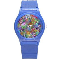 Glass Rainbow Color Round Plastic Sport Watch (s) by Alisyart