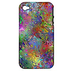 Glass Rainbow Color Apple Iphone 4/4s Hardshell Case (pc+silicone) by Alisyart