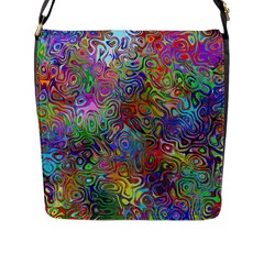Glass Rainbow Color Flap Messenger Bag (l)  by Alisyart