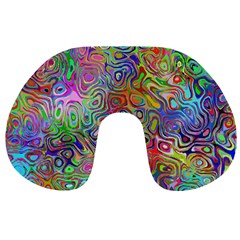 Glass Rainbow Color Travel Neck Pillows by Alisyart