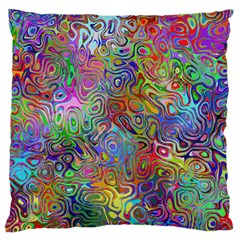 Glass Rainbow Color Large Flano Cushion Case (one Side) by Alisyart