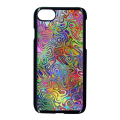 Glass Rainbow Color Apple Iphone 7 Seamless Case (black) by Alisyart