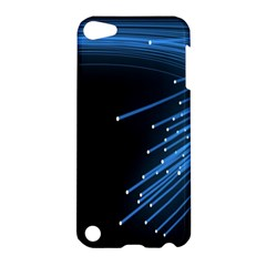 Abstract Light Rays Stripes Lines Black Blue Apple Ipod Touch 5 Hardshell Case by Alisyart