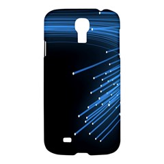 Abstract Light Rays Stripes Lines Black Blue Samsung Galaxy S4 I9500/I9505 Hardshell Case