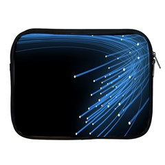 Abstract Light Rays Stripes Lines Black Blue Apple Ipad 2/3/4 Zipper Cases by Alisyart