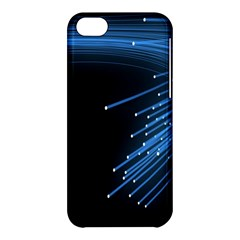 Abstract Light Rays Stripes Lines Black Blue Apple Iphone 5c Hardshell Case by Alisyart